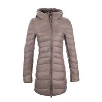 Wholesale Women Ultra Light Down Jacket Hooded Coat Long Jacket Women Plus Size XL Long Sleeve Brief Down Jacket female jackets