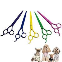 Wholesale Edging Shears - Free Shipping 7 inches Professional Premium Sharp Edge Dog Pet Grooming Scissors Shears Pet Animal Scissors order<$18no track