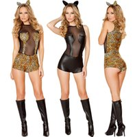 Wholesale Hot Hen Party - hot sell sexy Ladies Fancy Dress HOLLOWEEN Costume Outfit Vixen Hen Party dress 4512