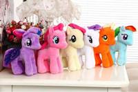 "Wholesale Selling Doll - ""Hot-selling"" 20CM Little Pony Plush toys Dolls Set of 6 designs Cartoon Super Quality plush Dolls Free Shipping!!"