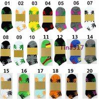 Wholesale 20colors Unisex Socks Skateboard hiphop socks Maple Leaf Foot socks Plantlife Socks ankle socks sports socks Sock Slippers