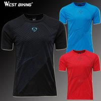 West-Biking 2015 Slim Fit Workout Shirts Männer Sport Fitness Quick Dry T-Shirts Men Casual Radfahren Laufen kurze Hülse Jersey