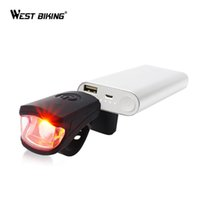 Wholesale Silicon Bike Lights - Wholesale-Bike Accessories USD Rechargeable Bicycle Front Light LED Waterproof Flashlight Outdoor Cycling Lamp Silicon Buckle Handlebar
