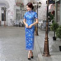Wholesale Chinese Wear For Women - Free shipping Charming Retro Chinese Women Autumn Winter Velour Cheongsam Dress QiPao Long Party Wear Cheongsams Dresses for Women Lady
