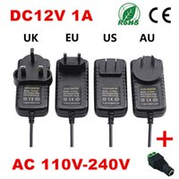 Wholesale Drive 12v - DC12V 2A AC100-240V Strip light Power Supply Converter Adapter power 12V drive AU EU US UK