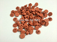 Wholesale Butyl Stopper - Wholesale- 13mm, 200pcs! Red Color Butyl rubber stopper medical rubber for vials,rubber sealing,injection vials stopper,rubber cap,