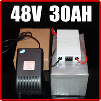 Wholesale 48v Lifepo4 - 48V 30AH LiFePO4 Electric Bicycle Battery ,with 1500W BMS Chargrer , RC Solar energy E-bike Electric Bicycle Scooter 58.4V battery