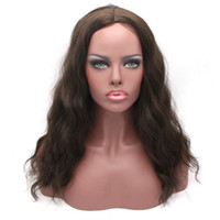 Wholesale hair wigs nature - Long Full Head Wigs For Black Women Synthetic Afro Wavy Black Red Nature Hair 22 inches 55cm