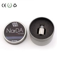 Wholesale Led E Cigs - 2016 Vaporizer Narda RDA Atomizers Drip Tip PEEK Insulators Dual Post Design Easy to Trap Coil Leads Fit Vape Mods E Cigs Clone
