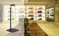 Wholesale Shoe Mannequins - wholesale ABS Bag handbag shoe display stand adjustable height   thick base   black hydraulic pole hanging rack mannequins C204