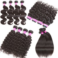 Wholesale Virgin Indian Curly Weave Hairstyles - Most Popular Hairstyle Virgin Brazilian Hair Weave Bundles Body Wave Straight Deep Kinky Curly Wet and Wavy Hair Extensions 8-32 34 36 inch