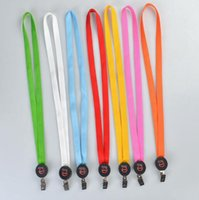 Cores sólidas LED Light Up Lanyard Key Chain ID Badge Colar Keys Holder Hanging Rope Party Favor CCA8234 50pcs