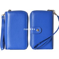 Wholesale Iphone Blue Coin Case - Red Wallet Long Purse Fashion Zipper Leather Phone Case Cover with Coin Pouch Purse for iphone 4 4s