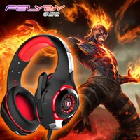Wholesale Usb Computer Headsets - New for mobile phone PS4 PSP PC Gaming Headphones 3.5mm+usb Wired Headset with Microphone LED Lamp Noise Canceling Headphone