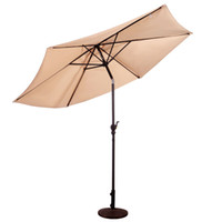 Wholesale Umbrella Market - 10FT Patio Umbrella 6 Ribs Market Steel Tilt W  Crank Outdoor Garden