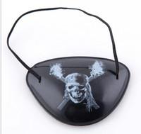 ingrosso le macchie degli occhi per i bambini-Hot Natale festivo Costume di Halloween Giocattolo per bambini Benda sull'occhio Accessori per ciechi Pirata Maschera con un occhio pirata con un occhio con corda flessibile