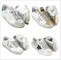 Wholesale Style Casual Leather Shoes - Original Box 2017 New GGDB Casual Shoes Superstar Dirty Style Fashion High Quality Unisex Run Shoe For Woman Men Low Cut Lace Up