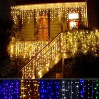 Party outdoor led christmas icicle lights - 3 m Droop m Curtain Icicle Led String light Christmas Light Outdoor Decoration V V led holiday light New Year Garden Wedding