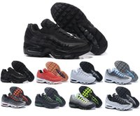 Wholesale Patchwork Cushions - Drop Shipping 2017 Retro 95 OG Men Casual Wholesale High Quality Air Cushion Black White Red Green Lightweight Walking Hiking Shoes 40-46