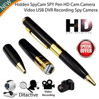 Wholesale Usb Dvr Video Camera - Mini Pen Camcorder NEW Mini HD DV USB DVR Cam Hidden Spy Pen Video Camera Recorder Spy Camcorder