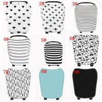 Wholesale Pram Baby - Baby ins Stroller Pram Car Seat Cover Breathable Shade Canopy Blanket Travel Bag Buggy Cover Breastfeed Nursing Covers 10pcs