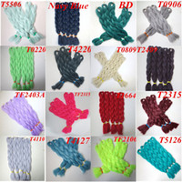 Wholesale crochet synthetic hair weave online - Kanekalon synthetic braiding hair inch Folded grams single color Xpression jumbo Crochet Braids twist Hair Extensions more colors