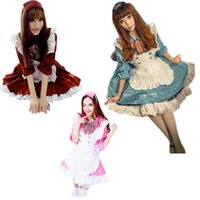 Wholesale Japanese Maids Pink - Pink Japanese Maid Uniform Costume Lolita Dress for Halloween Cosplay Party