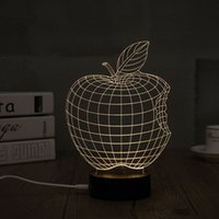 Wholesale Diy Modern Table Lamp - Wholesale, night light, 2017 new, home decoration, wood acrylic 3D sign light LED modern life table lamp bedroom mini USB heart light 01
