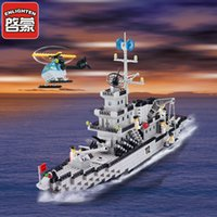 Wholesale Enlighten Aircraft - Enlighten small particles boys 6-12 years old children toy aircraft model assembling military battlecruisers 112
