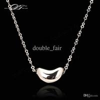 Wholesale Bean Pendant Necklace - Love Heart Bean Necklaces & Pendants Platinum Plated Fashion Brand Vintage Jewelry For Women Chains Accessiories DFN014