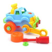 Wholesale Baby Plastic Car Toy Disassembly Assembly Classic Cars Truck Toys Children Gifts Hot