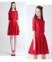 Wholesale Short Occasion Dresses Women - Red Short Cocktail Dresses Lovely Classic Prom Dresses Formal Wear For Women Best Ball Gowns Online Special Occasion Dresses