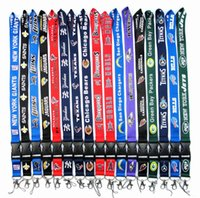 Wholesale Keychain Id Holder - 50pcs lot Football Teams Lanyard ID Card Badge Holder Detachable Keychain For Xmas Gifts Hot Sales Free Shipping
