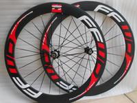 Wholesale Carbon Clincher 23 - carbon road wheels 60 mm wheels width 23 mm POWERWAY R39 carbon clincher 700C road bike wheels