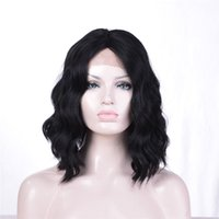 Wholesale american curls hair - kabell African American Fashion wigs lace front wigs Black 1# curls hair Mixed Short hair lace front wigs Black white female wig