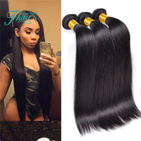 paquetes de pelo brasileño de 28 pulgadas al por mayor-2016 Productos 1B Color natural Paquetes de armadura de cabello humano brasileño 3Pcs Lote 9A Brasas de cabello humano recto brasileño Extensiones 10