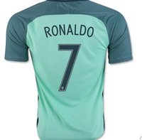 Wholesale Top Fashion Wear - Thai Quality Customized 2016-17 mens 7# RONALDO Away Soccer Jersey,top 16-17 new Season Soccer Wears Top, Cheap Fashion Football Shirts Tops