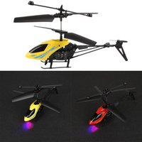 Wholesale Remote Heli - Mini RC Helicopter Radio Control Electric Heli Copter Aircraft 3.7V Radio Remote Control Aircraft 3D 2.5 Channel Drone Toys Gift