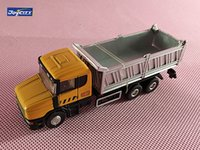 Wholesale 72 Models - Brand New JOYCITY 1 72 Scale Sweden SCANIA MX-1 Dump Truck Diecast Metal Car Model Toy For Gift Kids Collection Decoration