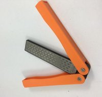ingrosso pietre all'aria aperta-New Arrive Double Sided Temperamatite pieghevole Diamond Knife Sharpening Stone Outdoor