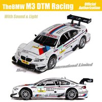 Wholesale diecast model race cars resale online - 1 Scale Diecast Alloy Metal Luxury Racing Car Model For TheBMW M3 DTM Collection Model Pull Back Toys Car With Sound Light