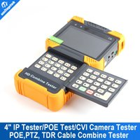 Wholesale Cctv Camera Cable Tester - 4.0'' LCD 1080P HDMI CCTV IP Tester POE Test  HD CVI Camera Tester TDR Cable Tester With 8G Momory Card Video Record