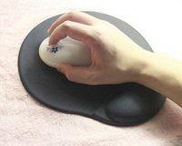 Wholesale Keyboard Mouse Gel Pads - Foam Gel Wrist Rest Mouse Pad (Black) rest mouse pad Cheap rest mouse pad