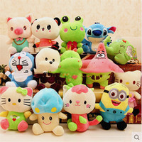 Wholesale Small Doll Gift - 8-10CM Small Cartoon Plush Toys for Baby Stuffed Doll Animal Soft Toys Plush Doll Toy Christmas Gifts