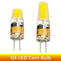Wholesale G4 Led For 12v Ac - G4 LED Lamp 2W 3W 12V AC DC AC220V Lampada Bombillas LED COB Chip Replace Halogen Lamp High Bright For Spotlight Chandelier