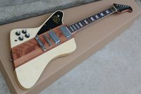 Wholesale Wood Fretboards - Original Wood Color Electric Guitar with 22 Frets,Chrome Hardware,Rosewood Fretboard,Mahogany Body and can be customized