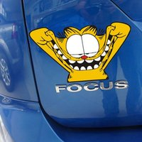 Wholesale Garfield Decals - 2016 New Nauty Face Garfield Funny Car Stickers Cute Animal Cartoon Personalized Decoration Decal Sticker On Car