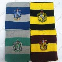 ingrosso sciarpa di hufflepuff-Harry Potter Sciarpa lavorata a maglia Grifondoro Scuola Sciarpe unisex Sciarpa a righe Grifondoro Harry Potter Tassorosso Cosplay 17x170 cm