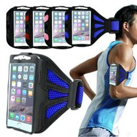 Premium Mesh Armband Sports Phone Case Touch Screen Running Jogging Tampa do celular para Apple iPhone 6 6s 4.7