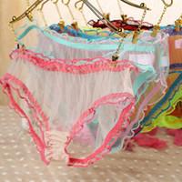 Wholesale Sheer Lace Panties - New Hot Fashion Womens Sexy Panties Briefs Lace Sheer Knickers Bikini Lingerie Underwear